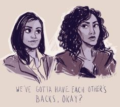 I love the episodes of Brooklyn Nine-Nine where Amy and Rosa work detective cases together. Aww yeah, effortlessly passing the Bechdel Test that's what I'm talkin' about! Also hey, happy Galentine's Day.