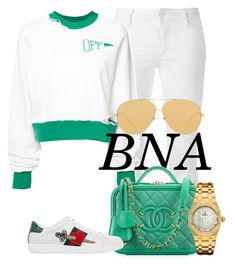 BNA by deborahsauveur on Polyvore featuring Off-White, Dsquared2, Gucci, Audemars Piguet, Linda Farrow and Chanel