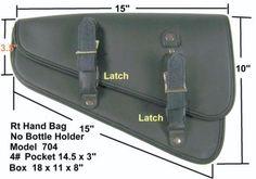 Motorcycle leather solo bag swingarm side bag for harley sportster models new…