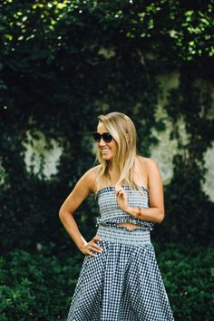 Zara Gingham Two-Piece // snapped by gracie