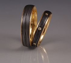 2 Rings by Victoria Moore: Gold and Steel Ring available at www.artfulhome.com