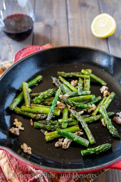 Pan-Charred-Asparagus-with-Lemon-and-Walnuts