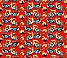 Dandy_Dodo fabric by art_on_fabric on Spoonflower