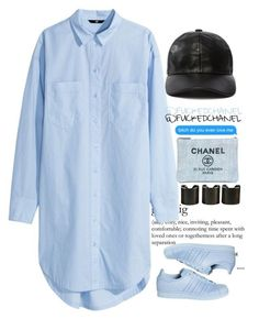 █ Ice ice baby. by fuckedchanel on Polyvore featuring polyvore, fashion, style, H&M, adidas, 8 Other Reasons and Chanel
