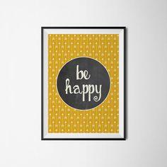 plakat be happy od myscandi