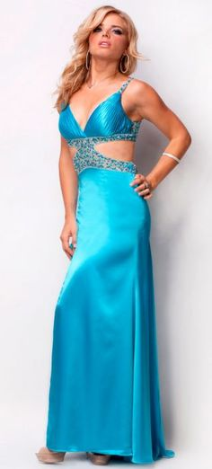 Check Out Our Awesome Product: Nina Canacci Hand Beaded Low Back Charmeuse Dress Style I40004>>>>>>
