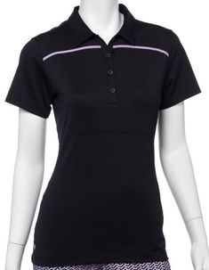 Need new golf apparel? EP New York takes pride in offering women's golf clothing for all shapes and sizes. Buy this Club Med (Black Multi) EP New York Ladies Short Sleeve Golf Shirts today from Lori's Golf Shoppe!