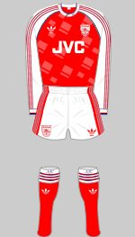 1990-1992 Arsenal Kit