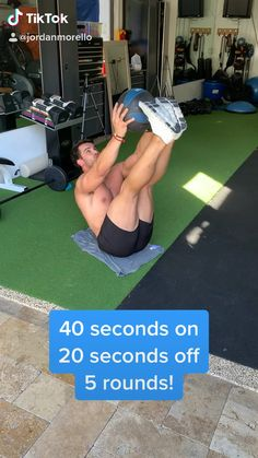 Here's a quick home abs workout you can do! Give these moves a go! 5 rounds, 40 seconds on, 20 seconds off! Here's a quick home abs workout you can do! Give these moves a go! 5 rounds, 40 seconds on, 20 seconds off! Fitness Workouts, Abs Workout Routines, Fitness Humor, Ab Workouts, Fitness Quotes, Gym Workout Chart, Gym Workout Videos, Ab Workout At Home, Sixpack Workout