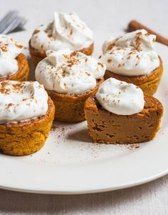 Impossible Pumpkin Pie Cupcakes with Whipped Cream