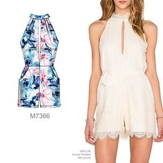 Sew the Look: The lace romper. Make it with McCall's M7366 romper pattern.