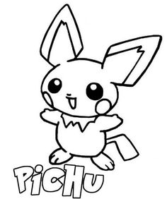 Pichu Coloring Pages - GetColoringPages.com | 282x236