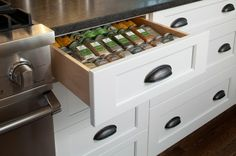 A place for spices - traditional  by Gilday Renovations Design Build
