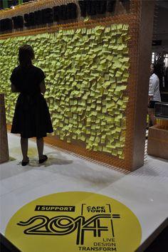 #yellow #postit Cape Town World design Capital 2014