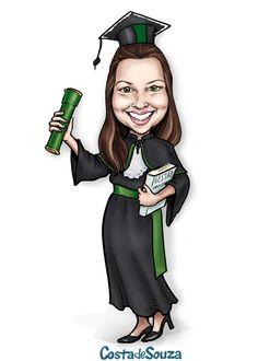 Caricatura sob encomenda para formatura. Para quadro, totem, display, lembranças. #graduation