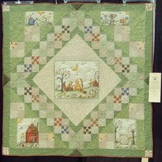 Cute quilt using parts of a panel. Good idea!!