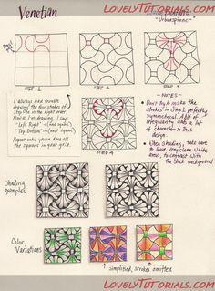 Эскизы красивых каракуль и.т.д. -Freehand doodle patterns - zen doodle