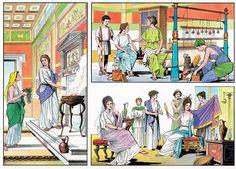 Roman women ~ O. Ancient Pompeii, Ancient Greek, Ancient Art, Ancient History, Fall Of Constantinople, Rome City, Medieval World, Roman History, Minoan