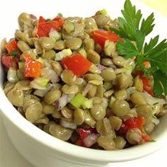 Mediterranean Style Roasted Red Pepper and Lentil Salad Allrecipes.com