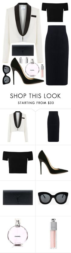 """""""Untitled #1304"""" by fashionwwonderland ❤ liked on Polyvore featuring Racil, 10 Crosby Derek Lam, Alice + Olivia, Jimmy Choo, Yves Saint Laurent, CÉLINE, Chanel, Christian Dior and Dinh Van"""