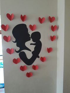 Anneler Günü ♡ Mothers Day Decor, Mothers Day Crafts, Mom Day, Stencil Designs, Heart Art, Art Projects, Stencils, Diy And Crafts, Techno