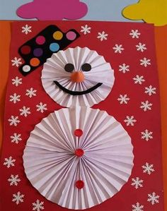 10 Easy Snowman Crafts for Kids and Adults ⋆ بالعربي نتعلم Winter Crafts For Kids, Paper Crafts For Kids, Craft Stick Crafts, Bear Crafts, New Year's Crafts, Snowman Cards, Cute Snowman, Craft Activities, Preschool Crafts