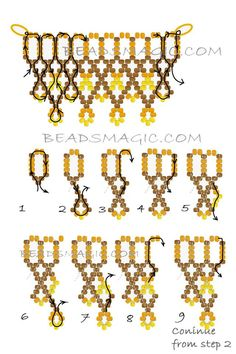 Free pattern for beaded necklace Turmeric   U need seed beads 11/0