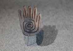 Casa del Alabado. Museo de Arte Precolombino  Sellos como este eran usados para decorarse el cuerpo. Cultura Jama Coaque. Ecuador