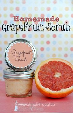 You've got to try this homemade grapefruit scrub.  So refreshing!  Plus other homemade Mother's Day gifts!