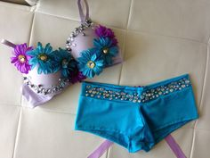Daisy and Rhinestone Rave Outfit by DirtyBeatsBoutique on Etsy, $85.00