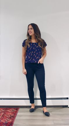 August Outfits Week Three Jules in Flats – Navy Dot Top (Business Casual Summer Workwear on a Budget) Summer Business Outfits, Business Professional Outfits, Business Attire, Casual Professional, Business Formal, Business Fashion, August Outfits, Office Outfits, Office Wear