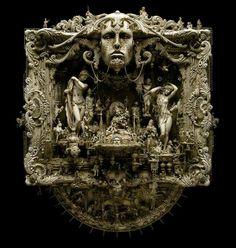 Kris Kuksi's 'Eden', 2010. Resin, plastic, wood, metal, enamel, acrylic, in the September issue of Beautiful Bizarre Magaz...