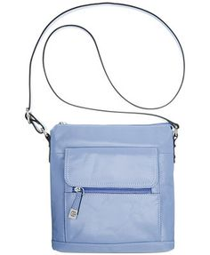Giani Bernini Florentine Glazed Leather Vertical Crossbody