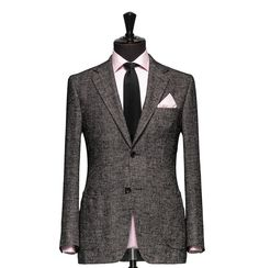 Tailored Jacket – Fabric 7808 Birdseye Black Cloth weight: 320g Composition: 100% Wool Super 110's