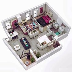 Concept floor plans in different layout for one storey and 2 story house idea. Concept floor plans in different layout for one storey and 2 story house ideas. Sims 4 House Plans, Dream House Plans, Modern House Plans, House Floor Plans, Apartment Floor Plans, Small Apartment Plans, Sims 4 Houses Layout, House Layout Plans, House Layouts