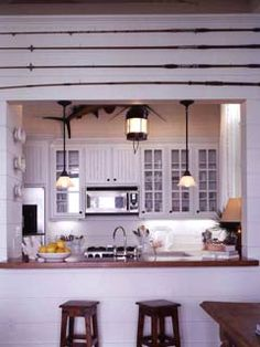 Kitchen...love the fishing poles