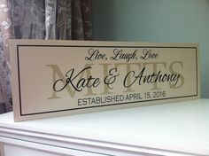 Live Laugh Love Personalized Name Sign Wedding by SugarCreekLane