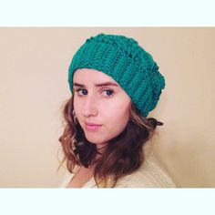 Cable Stitch Slouchy Beanie by pesquallie on Etsy