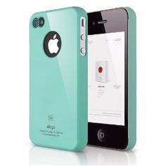 ELAGO EL-S4SM-CBL-BA S4 Slim Fit Case for AT, Sprint, Verizon iPhone 4/4S - 1 Pack - Retail Packaging - Coral Blue