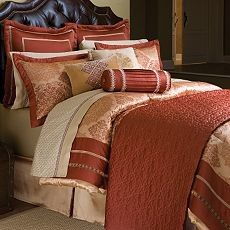 Casa Cristina Bedding | ... fire with these casa cristina bedding coordinates in paprika red
