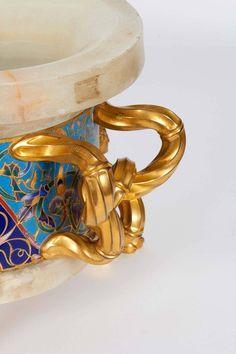Ormolu Cloisonne Champleve Enamel Onyx Jardiniere Centerpiece, F. Cuff Bracelets, Jewelry, Fashion, Jewlery, Moda, Jewels, La Mode, Jewerly, Fasion