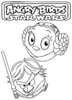 Free printable Coloring pages Angry Birds Star Wars #2
