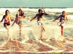 friends beach pic