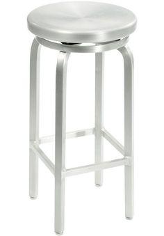Melanie Brushed Aluminum Swivel Bar Stool $69.00 (homedepot.com)