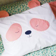 Sew some sweet dreams with this sleepy panda pillowcase!