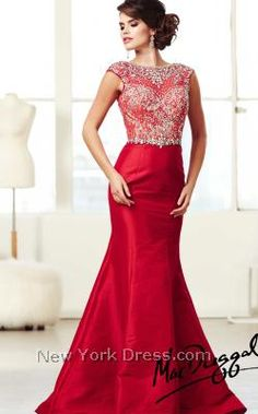 breathtaking red prom dress... Modest!!