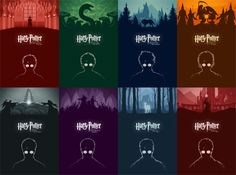 Harry Potter Movie Posters by Cameron K. Lewis, via Behance