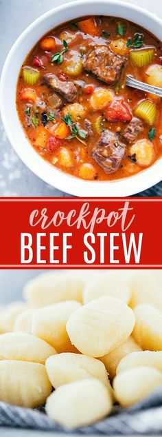 The ultimate BEST EVER crockpot beef stew with gnocchi. Very good but would replace the gnocchi with barley or wild rice. Maybe add some corn.