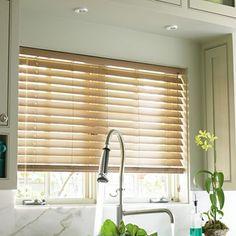 "Custom 2"" Smart Faux-Wood Blind - for the living room"