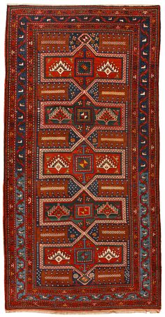 Antique Kazak Rug DIMENSIONS: 4.0 X 8.4 Fred Moheban Gallery